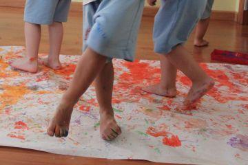 pintura con pies