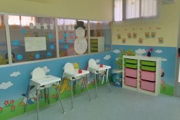 Detalle de una de las aulas de 0 a 1 años