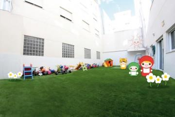 Amplio patio de 100 m²